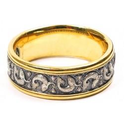 """Кольцо """"Рыбки"""", серебро с позолотой, молитва на внутренней стороне"""