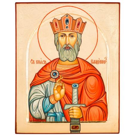 Писаная икона Святой Владимир 24х30 см