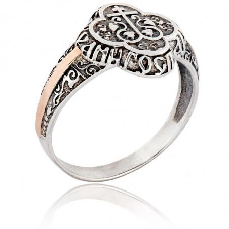 Серебряное кольцо «Процветший крест»