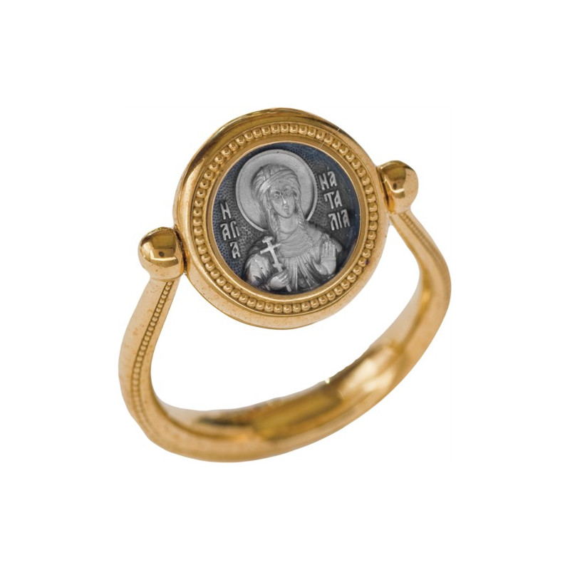Перстень с иконой «СВЯТАЯ МУЧЕНИЦА НАТАЛИЯ» ПС089