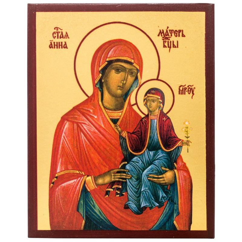 Икона Святая Праведная Анна 10х12 см