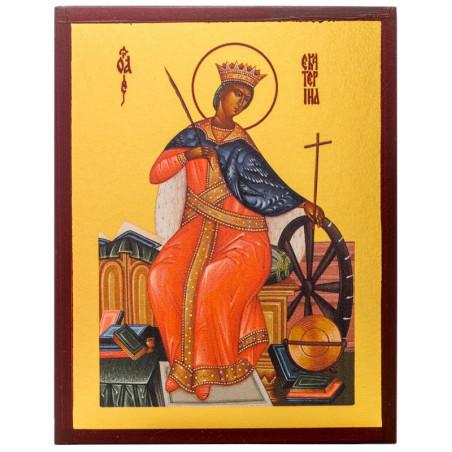 Икона Святая Екатерина Александрийская 10х12 см