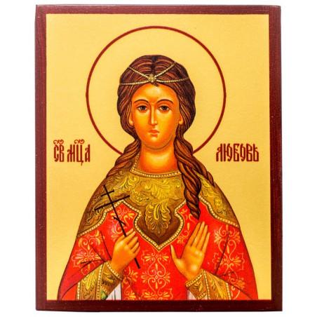 Икона Мученица Любовь Римская 10х12 см