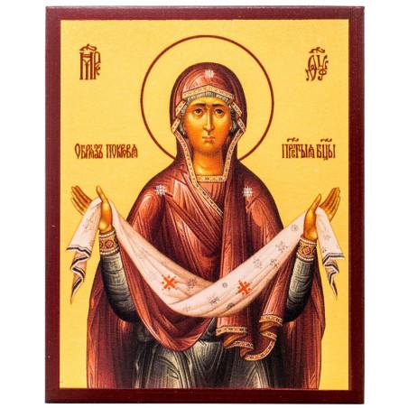 Икона Покров Пресвятой Богородицы 10х12 см