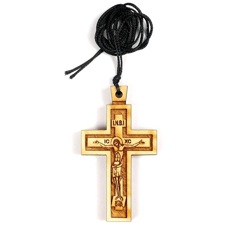 Крест нательный деревянный на шнурке (Греция)