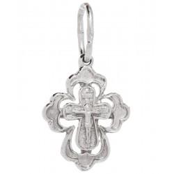 Нательный серебряный крест 1012