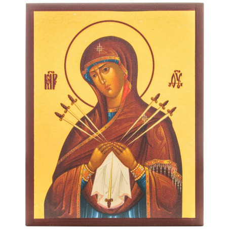 Икона Божией Матери «Семистрельная» 10х12 см