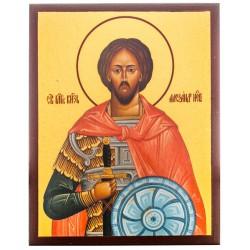 Икона Святой Александр Невский 10х12 см