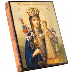 Икона Божией Матери «Неувядаемый цвет» 15х18 см