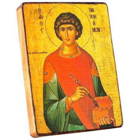 Икона Святой Пантелеймон Целитель 11х15 см