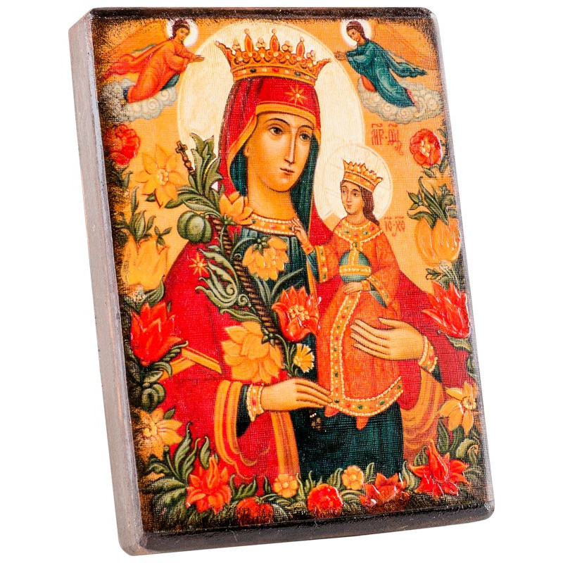 Икона Божией Матери «Неувядаемый цвет» 11х15 см