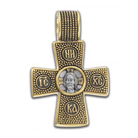 Крест «СПАС НЕРУКОТВОРНЫЙй. ОРАНТА» КС155