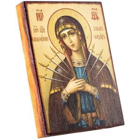 Икона Божией Матери «Семистрельная» 11х15 см