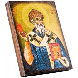 Икона Святитель Спиридон Тримифунтский 11х15 см