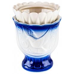 Керамическая настольная лампада «Голубь»