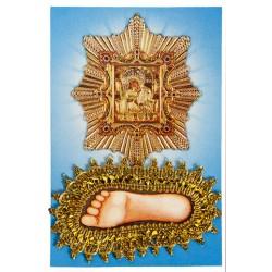 Стопа Пресвятой Богородицы с бисером
