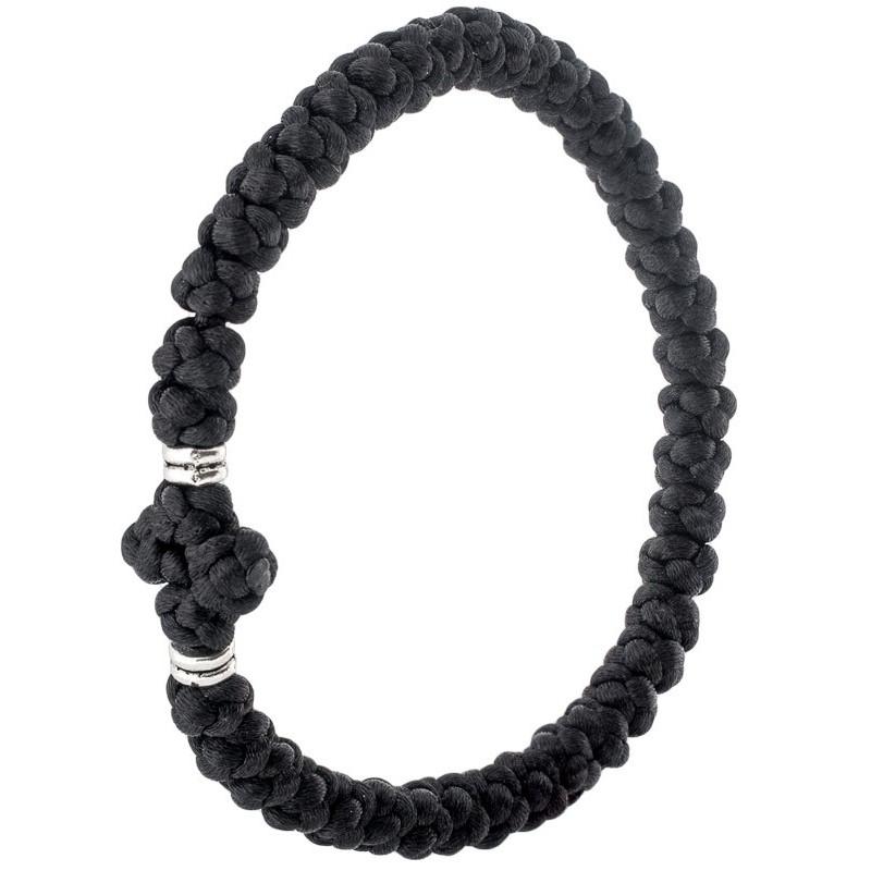 Плетеный браслет «Афонский» на 40 узелков (Греческие комбоскини)