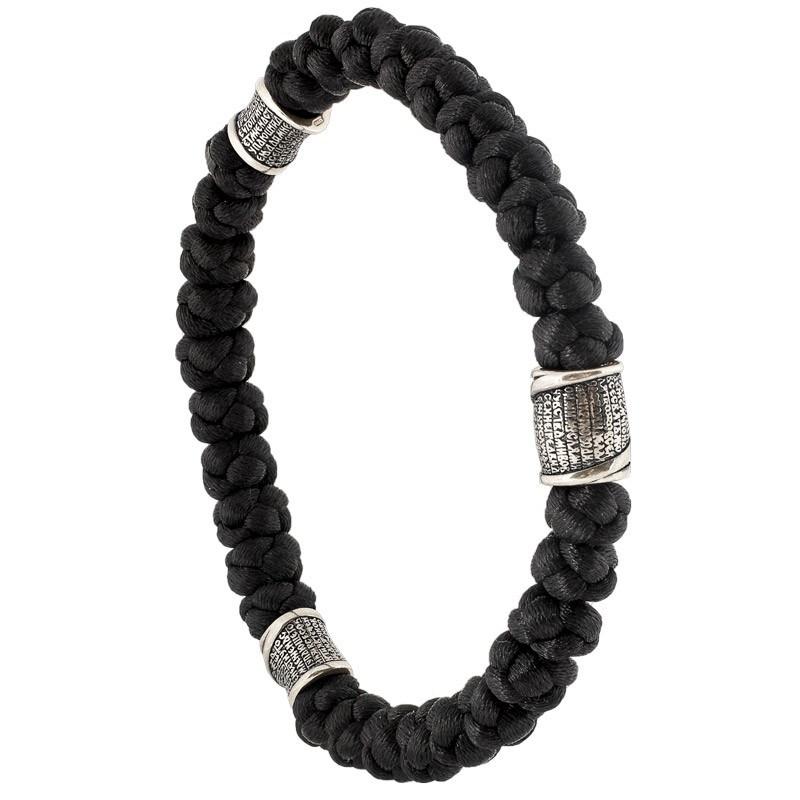 Плетеные четки-браслет на 30 шт. с молитвой Оптинских старцев