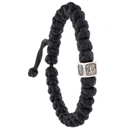 Плетеные четки-браслет на 30 шт. с иконой Ангел Хранитель