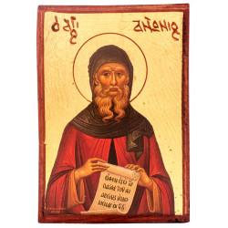 Икона на дереве Антоний Великий (9х6)