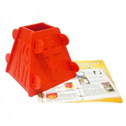 Форма для пасхи пластмассовая на 0.4 кг, с рецептами