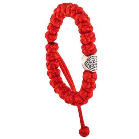 Плетеные четки-браслет с молитвой «Силою креста твоего сохрани нас, Господи»