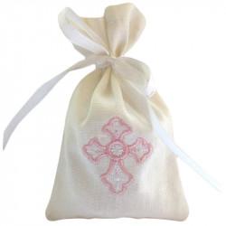Мешочек для волос (на крещение) хб с вышивкой