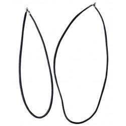 Кожаный шнурок для крестика с серебрянной застежкой (1,14 гр.)