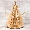 Рождественский сувенир «Ёлка» (сборная модель из 7 деталей + 4 колокольчика)