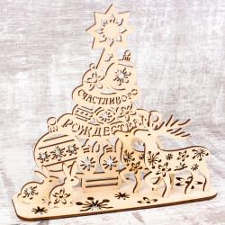 """Рождественский сувенир """"Ёлка"""" (сборная модель из 6 деталей)"""