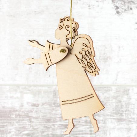 Деревянная игрушка-подвеска «Ангел»