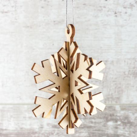 Сувенир- подвеска «Снежинка» (сборная модель из 2 деталей)