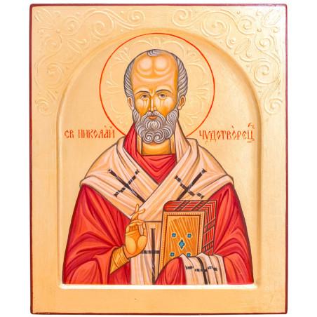 Икона писаная Святой Николай Чудотворец 24х30см