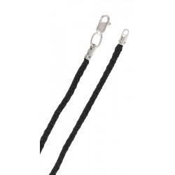 Шнурок для крестика с серебряным замком (04797)
