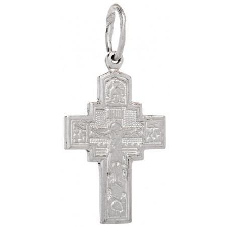 Нательный серебряный крест 1010