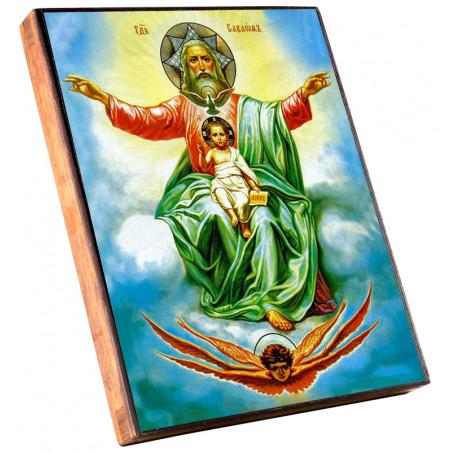 Икона Господь Саваоф 20х25 см